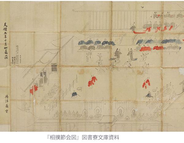 『相撲節会図』図書寮文庫資料